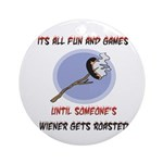 Roasted Wiener Ornament (Round)