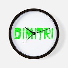 Dimitri Faded (Green) Wall Clock