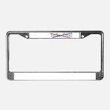 Spike Tape License Plate Frame