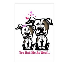 You Had Me at Woof Pit Bull Postcards (Package of