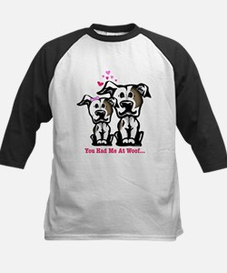 You Had Me at Woof Pit Bull Kids Baseball Jersey