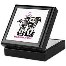 You Had Me at Woof Pit Bull Keepsake Box