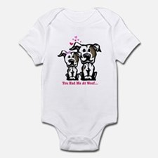You Had Me at Woof Pit Bull Infant Bodysuit