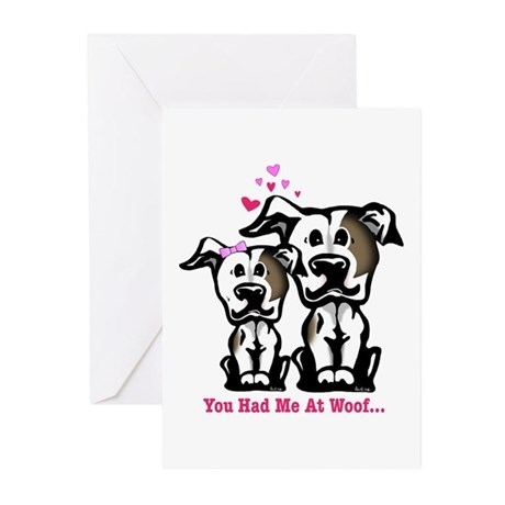 You Had Me at Woof Pit Bull Greeting Cards (Pk of
