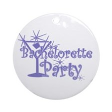 Indigo C Martini Bachelorette Party Ornament (Roun