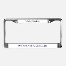 Cute Wag License Plate Frame