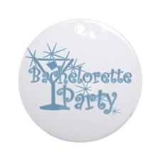Blue C Martini Bachelorette Party Ornament (Round)