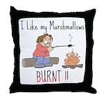 Burnt Marshmallows Throw Pillow