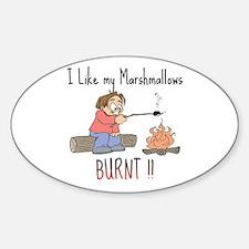 Burnt Marshmallows Oval Decal