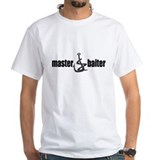 Master baiter Mens White T-shirts