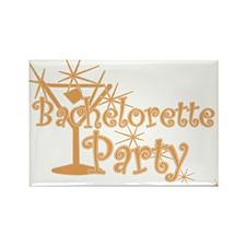 Orange C Martini Bachelorette Party Rectangle Magn
