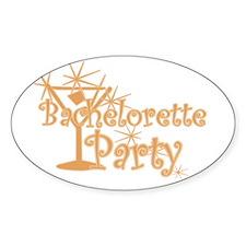 Orange C Martini Bachelorette Party Oval Decal