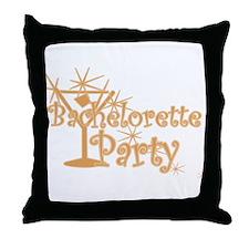 Orange C Martini Bachelorette Party Throw Pillow