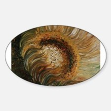 Golden Sunflower Oval Decal
