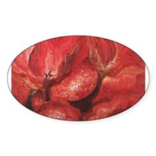 Flaming Obsession Oval Decal
