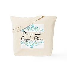 Nana and Papa's Place Tote Bag