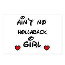 AINT NO HOLLABACK GIRL WITH HEART Postcards (Packa
