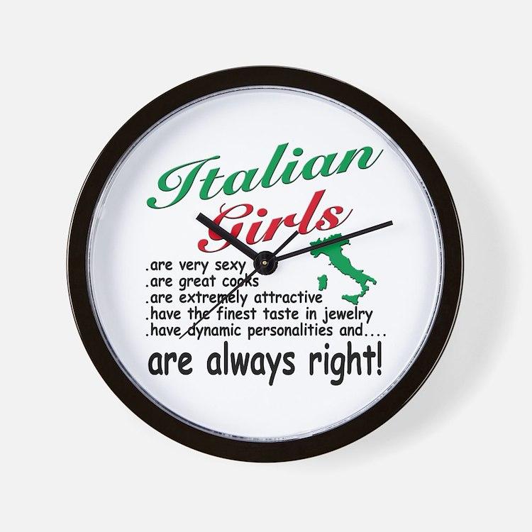 Italian Girls Wall Clock