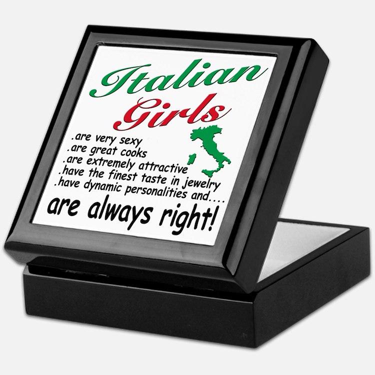 Italian Girls Keepsake Box