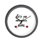AINT NO HOLLABACK GIRL WITH HEART Wall Clock