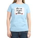 AINT NO HOLLABACK GIRL WITH HEART Women's Pink T-S