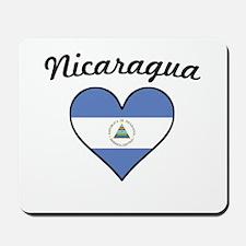Nicaragua Flag Heart Mousepad