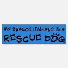 Rescue Dog Bracco Italiano Bumper Bumper Bumper Sticker