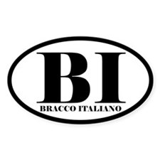 BI Abbreviation Bracco Italiano Decal