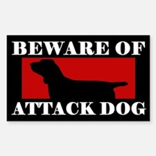 Beware of Attack Dog Bracco Italiano Decal