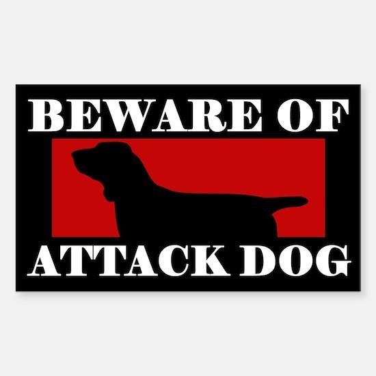 Beware of Attack Dog Bracco Italiano Decal
