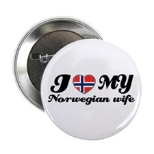 "I love my Norwegian wife 2.25"" Button"