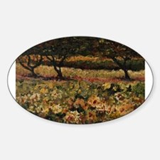 Golden Sunflowers Oval Decal