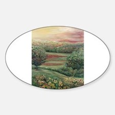 Summer in Tuscany Oval Decal