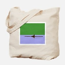 ROWER GREEN BLUE PAINTED Tote Bag