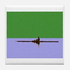 ROWER GREEN BLUE PAINTED Tile Coaster