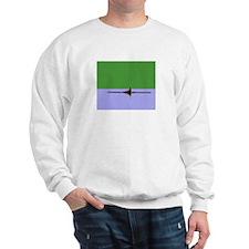 ROWER GREEN BLUE PAINTED Sweatshirt