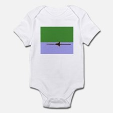 ROWER GREEN BLUE PAINTED Infant Bodysuit