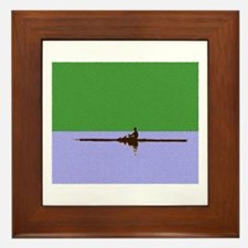 ROWER GREEN BLUE PAINTED Framed Tile