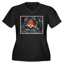 Gasp! Women's Plus Size V-Neck Dark T-Shirt