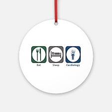 Eat Sleep Cardiology Ornament (Round)