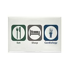 Eat Sleep Cardiology Rectangle Magnet