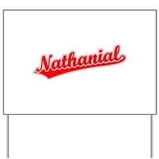 Retro Nathanial (Red) Yard Sign
