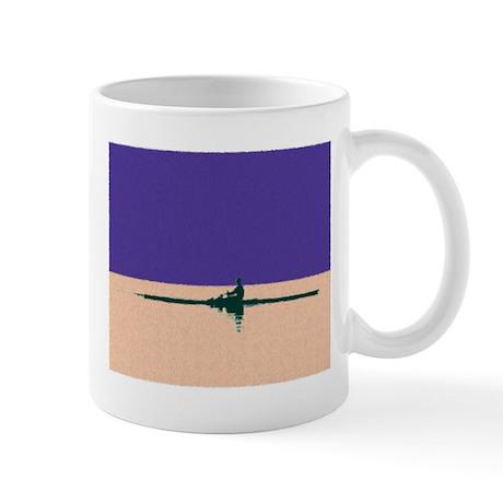 ROWER PURPLE ORANGE PAINTED Mug
