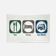 Eat Sleep Car Wash Rectangle Magnet