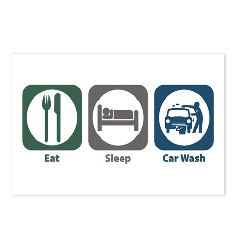 Eat Sleep Car Wash Postcards (Package of 8)