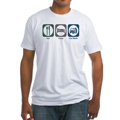 Eat Sleep Car Wash Fitted T-Shirt