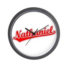 Retro Nathaniel (Red) Wall Clock