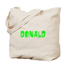 Donald Faded (Green) Tote Bag