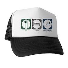 Eat Sleep Calligraphy Trucker Hat