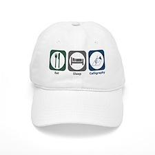 Eat Sleep Calligraphy Baseball Cap